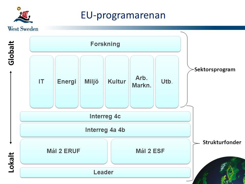 EU-programarenan Globalt Lokalt Forskning IT Energi Miljö Kultur Arb.