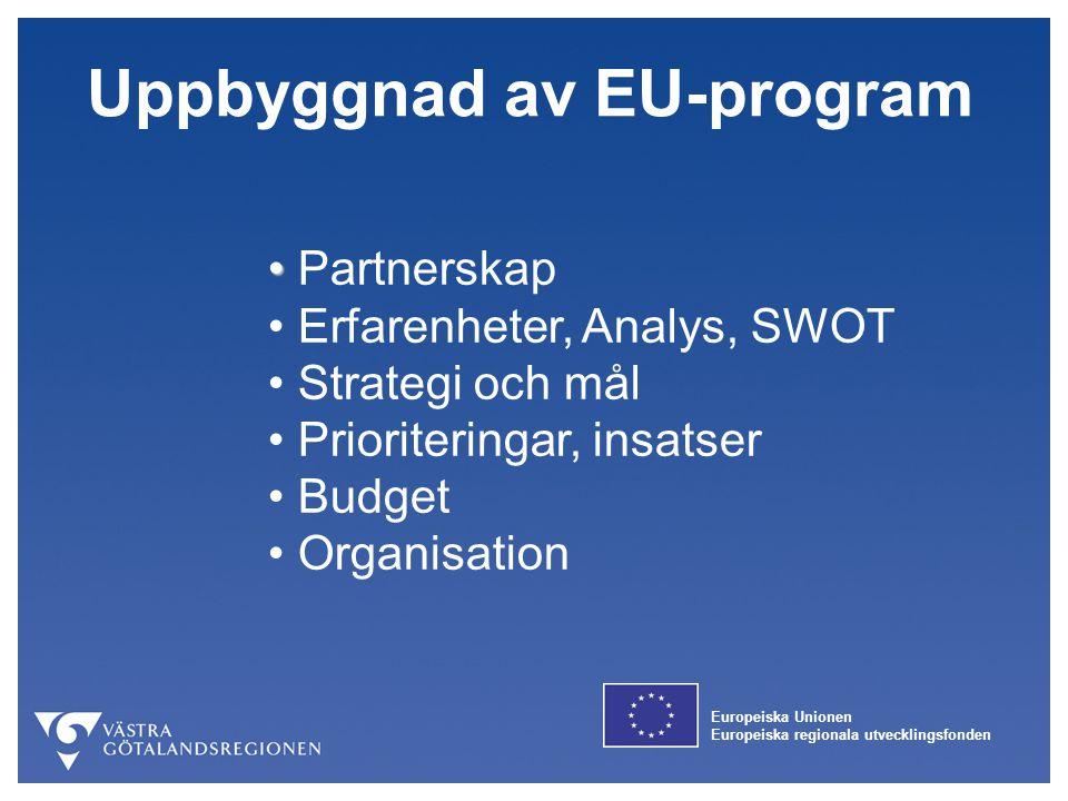 Uppbyggnad av EU-program