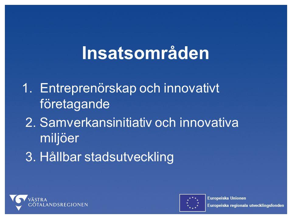 Insatsområden 1. Entreprenörskap och innovativt företagande