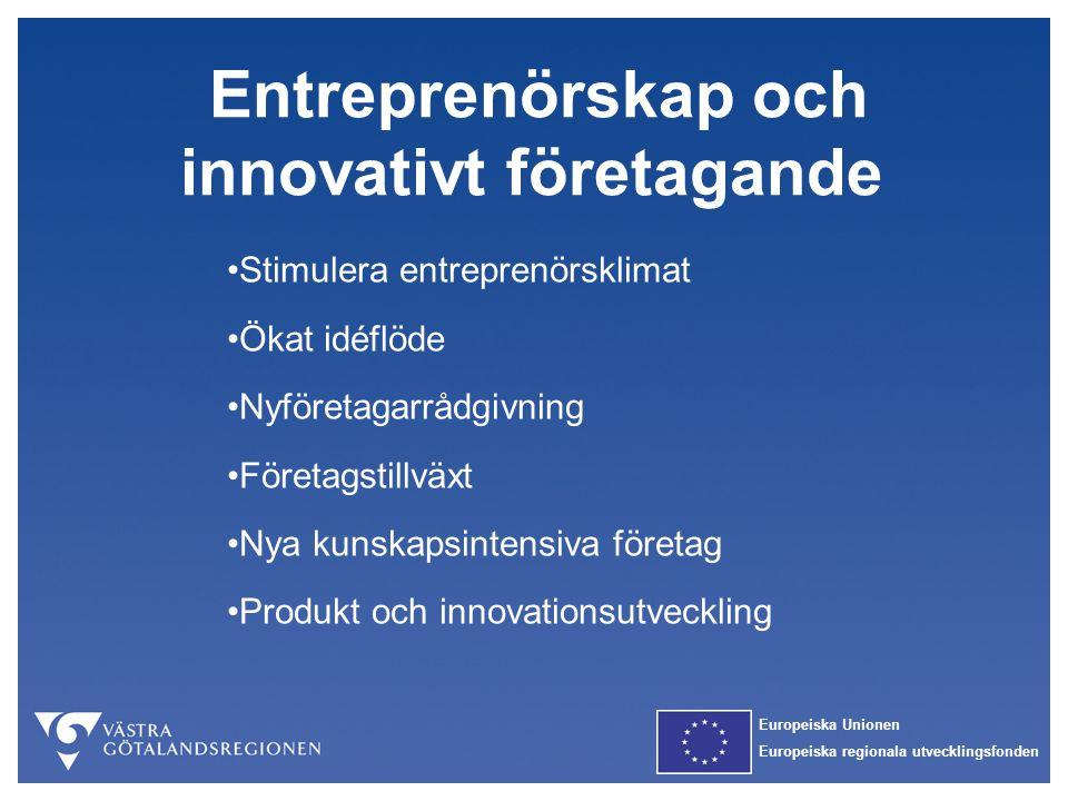Entreprenörskap och innovativt företagande