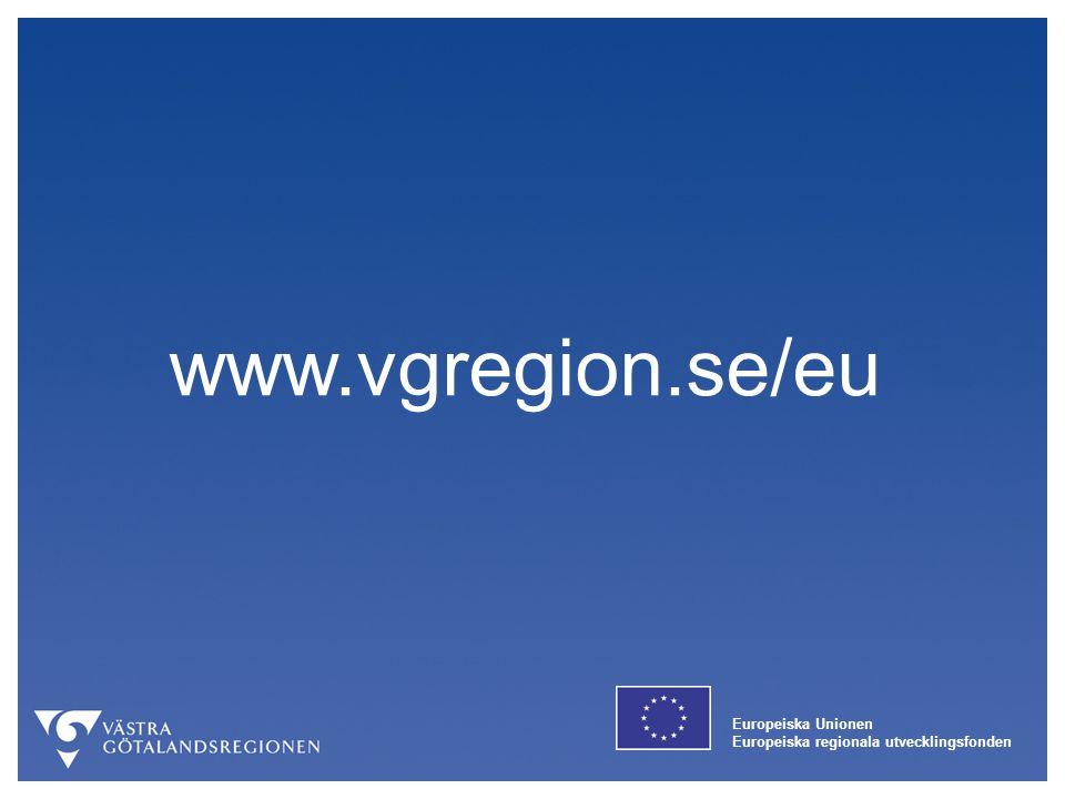 www.vgregion.se/eu Europeiska Unionen