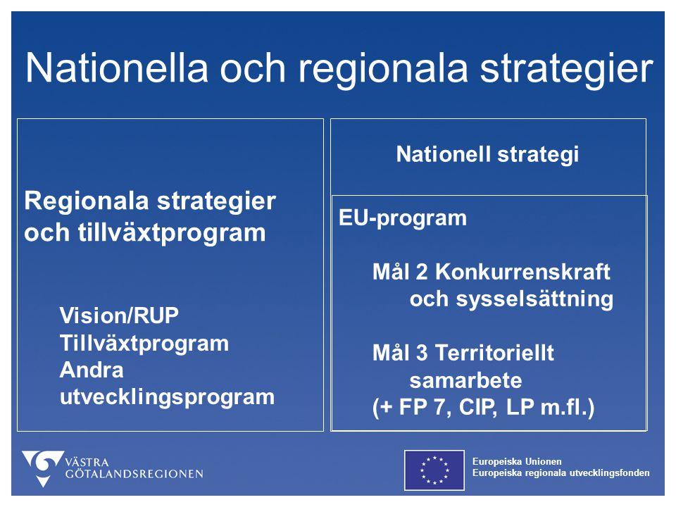 Nationella och regionala strategier