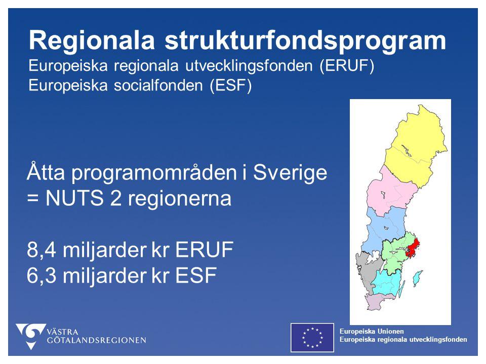 Regionala strukturfondsprogram Europeiska regionala utvecklingsfonden (ERUF)