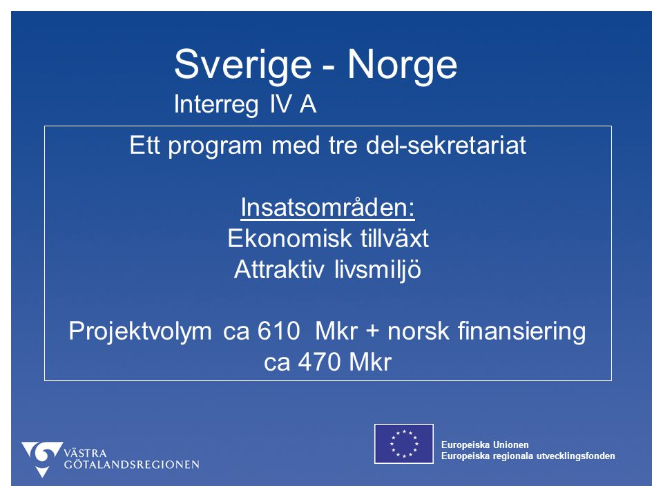 Sverige - Norge Interreg IV A