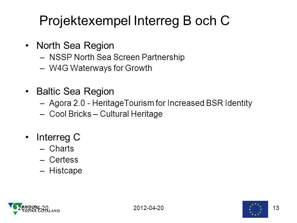 Projektexempel Interreg B och C