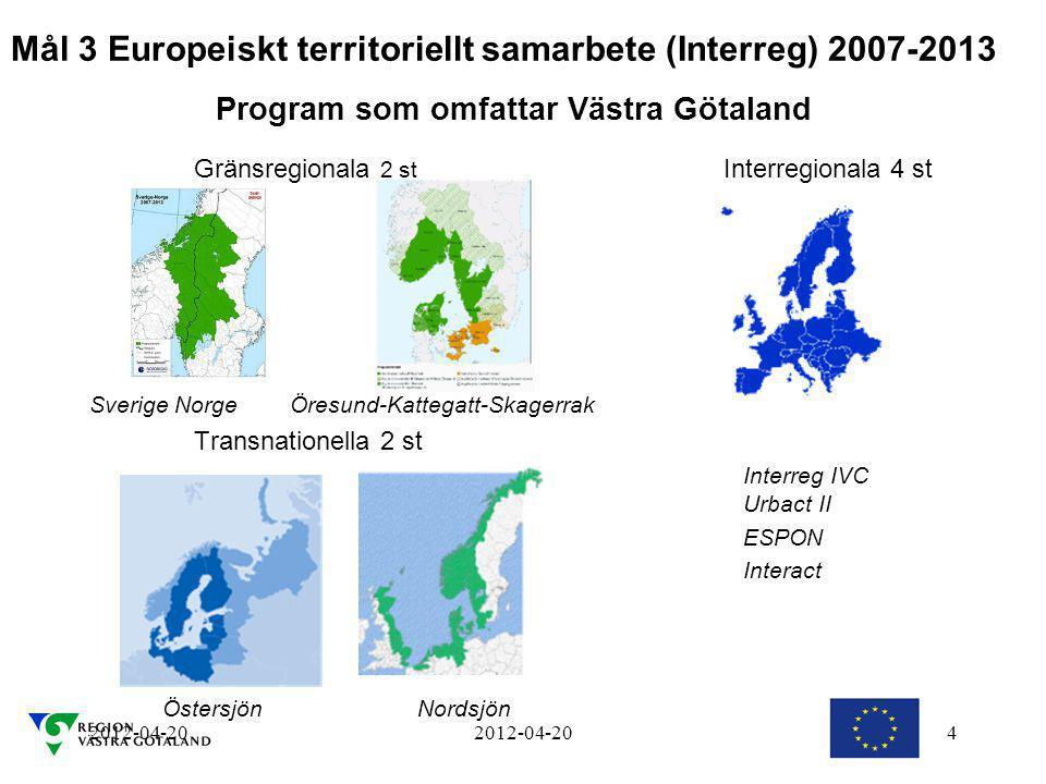 Mål 3 Europeiskt territoriellt samarbete (Interreg) 2007-2013