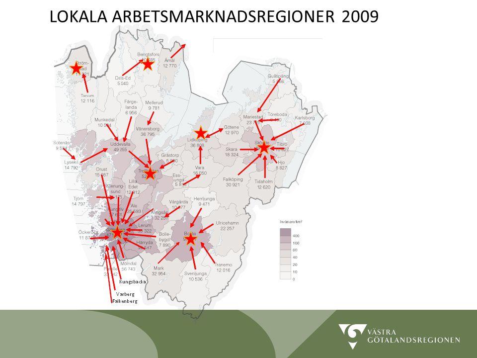 LOKALA ARBETSMARKNADSREGIONER 2009