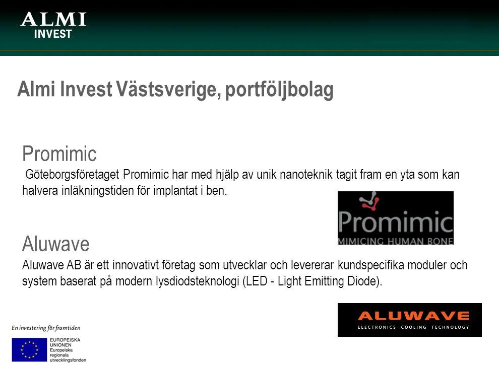Almi Invest Västsverige, portföljbolag