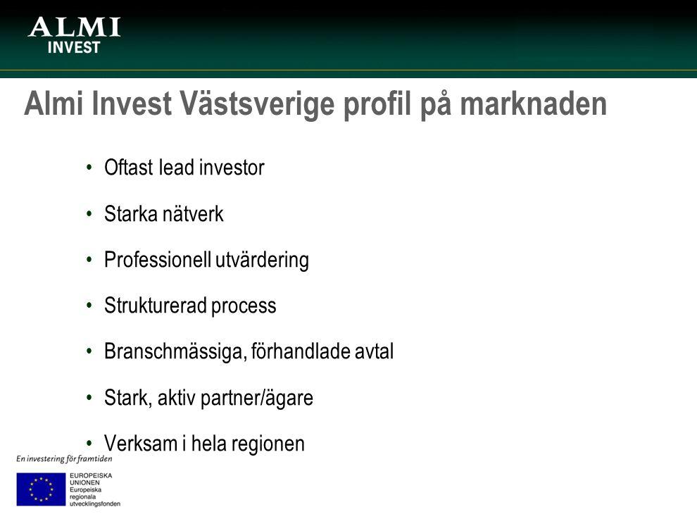 Almi Invest Västsverige profil på marknaden