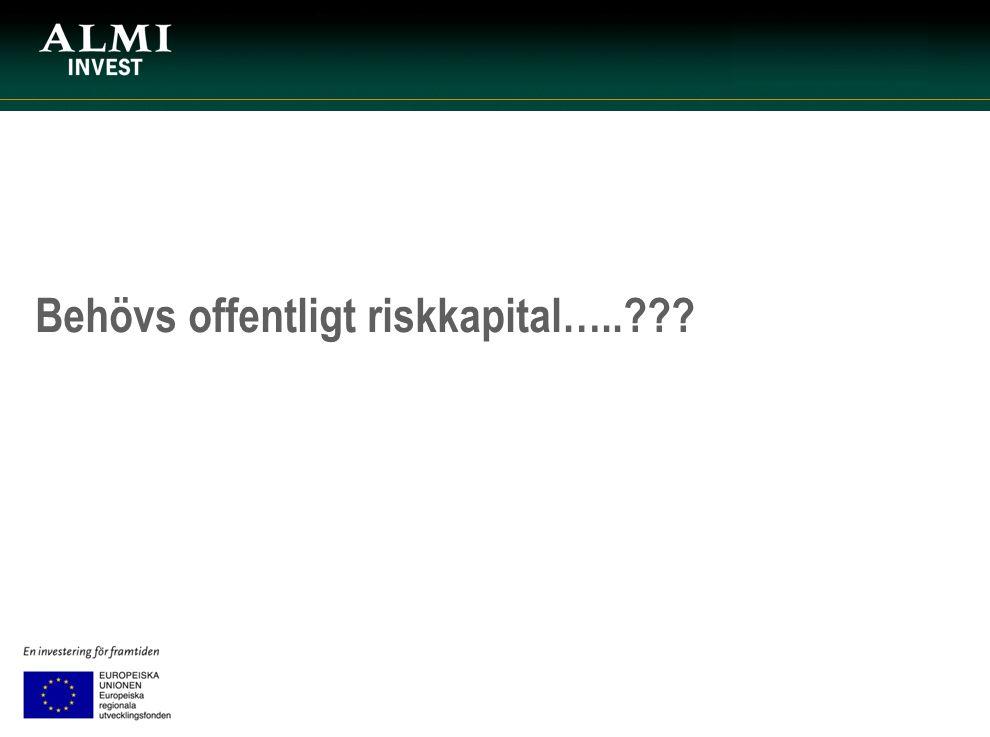 Behövs offentligt riskkapital…..