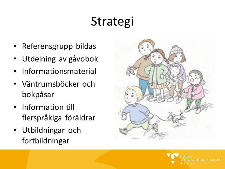 Strategi Referensgrupp bildas Utdelning av gåvobok