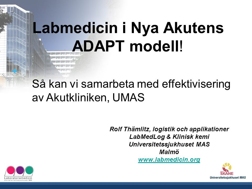 Labmedicin i Nya Akutens ADAPT modell!