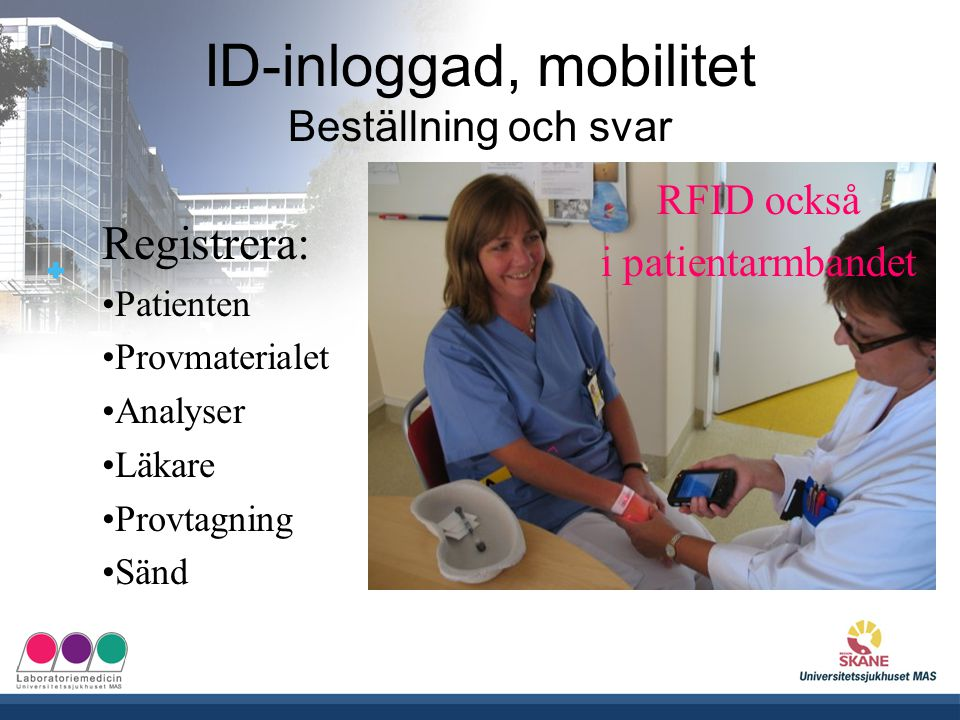ID-inloggad, mobilitet Beställning och svar