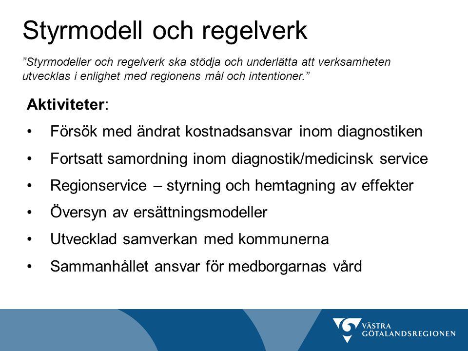 Styrmodell och regelverk