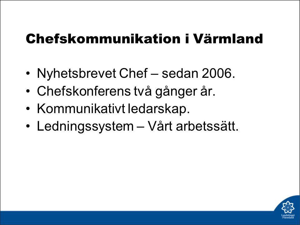 Chefskommunikation i Värmland