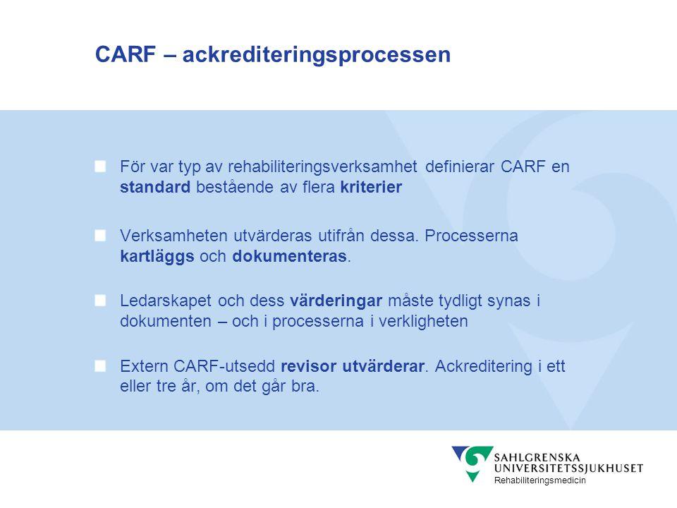 CARF – ackrediteringsprocessen