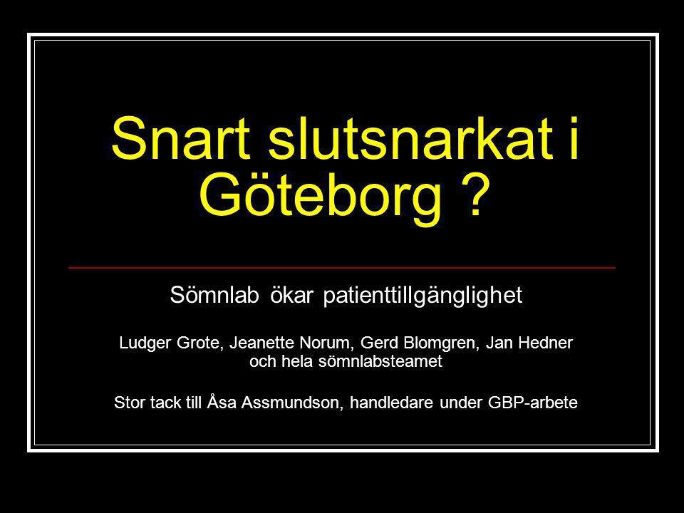 Snart slutsnarkat i Göteborg
