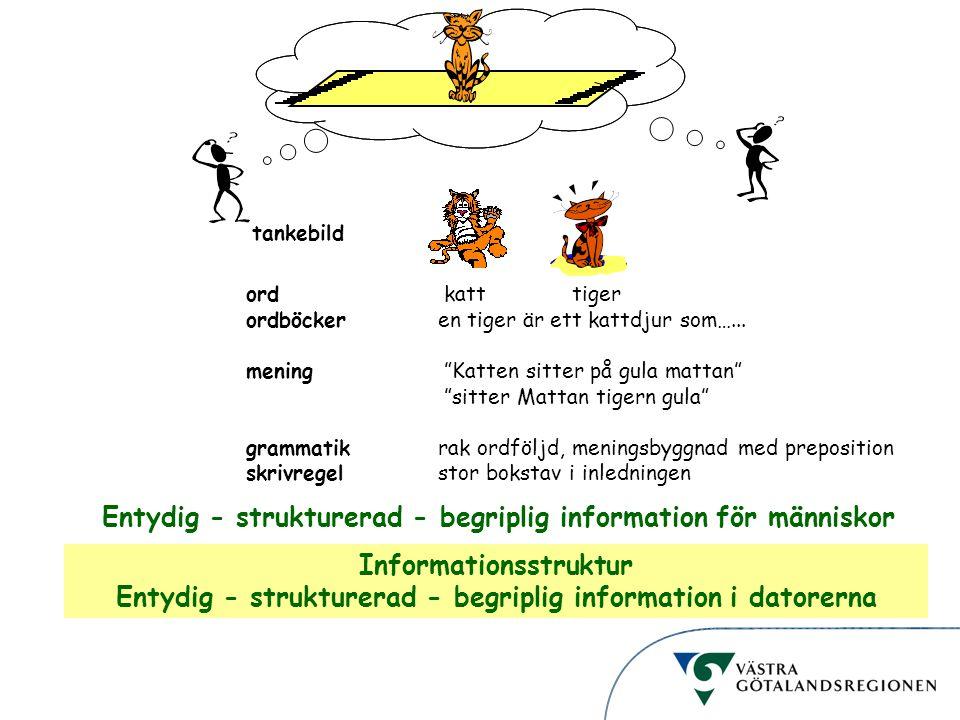 Entydig - strukturerad - begriplig information för människor