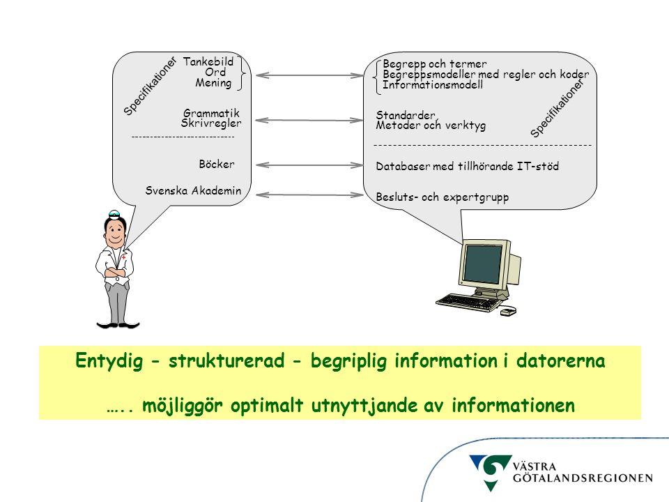 Entydig - strukturerad - begriplig information i datorerna