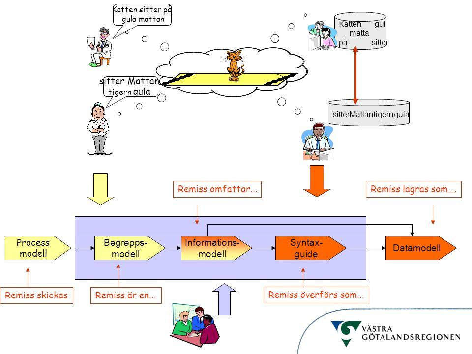 sitter Mattan Remiss omfattar... Remiss lagras som…. Process modell