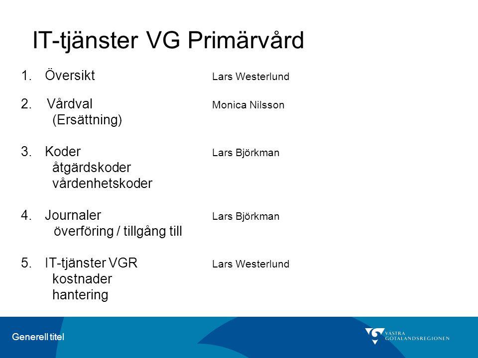 IT-tjänster VG Primärvård