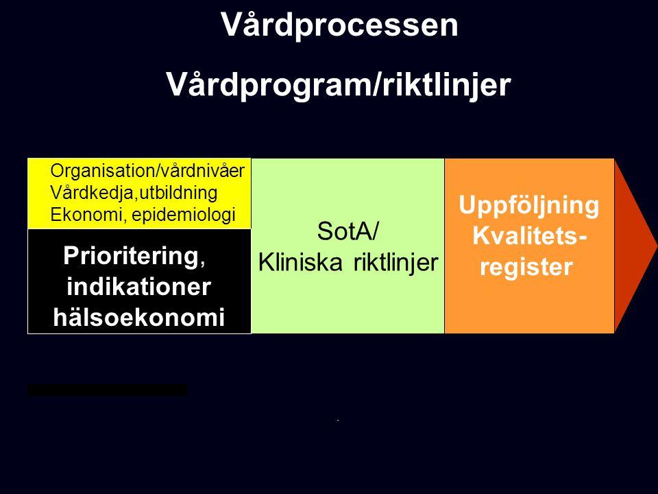 Vårdprogram/riktlinjer