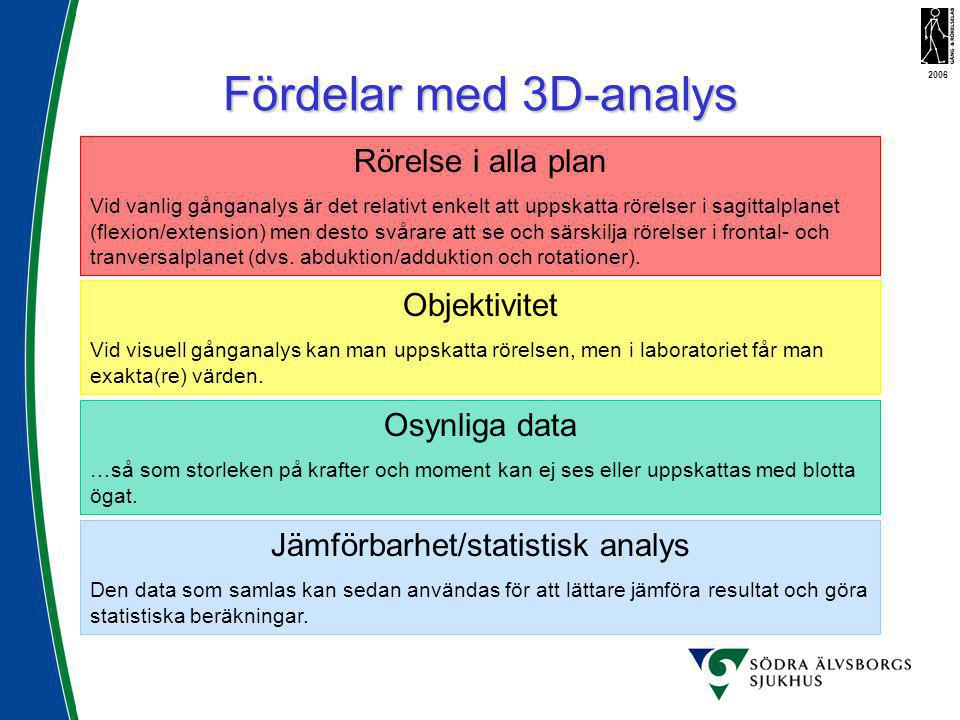 Jämförbarhet/statistisk analys