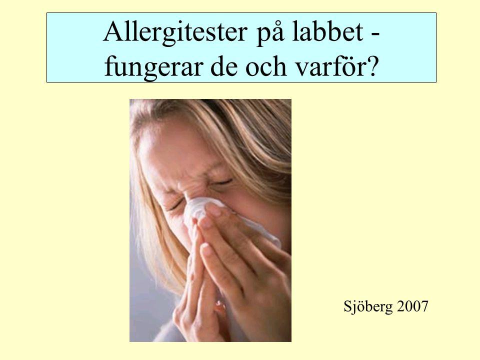 Allergitester på labbet - fungerar de och varför