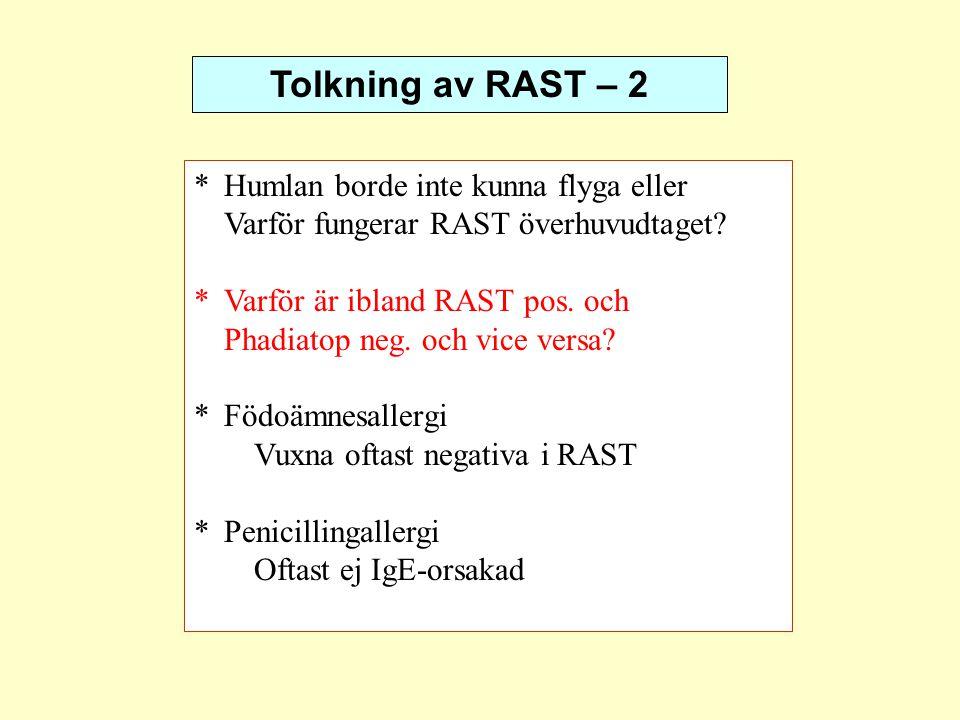Tolkning av RAST – 2 * Humlan borde inte kunna flyga eller