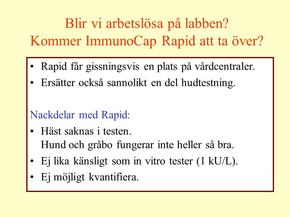 Blir vi arbetslösa på labben Kommer ImmunoCap Rapid att ta över