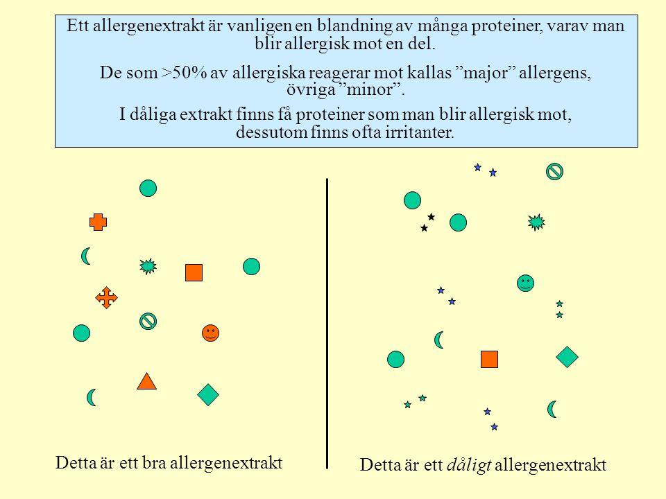 De som >50% av allergiska reagerar mot kallas major allergens,