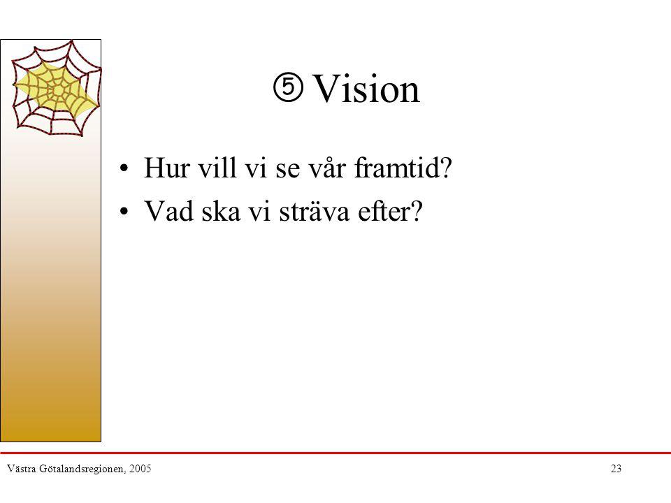 Vision Hur vill vi se vår framtid Vad ska vi sträva efter 5