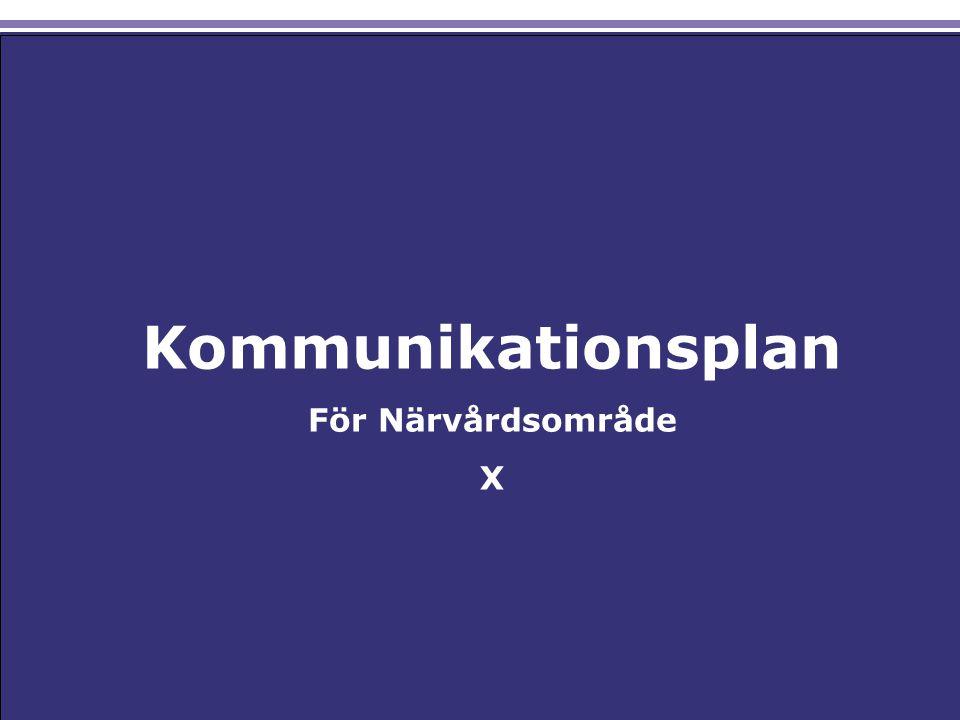 Närvårdssamverkan Kommunikationsplan Csadadas Asdas Ksaldjaksld