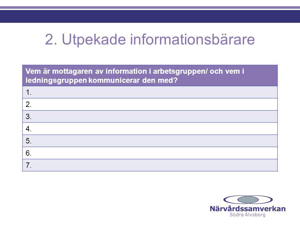 2. Utpekade informationsbärare