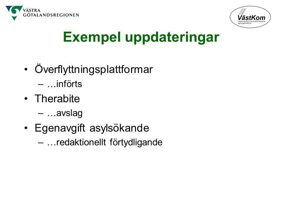 Exempel uppdateringar