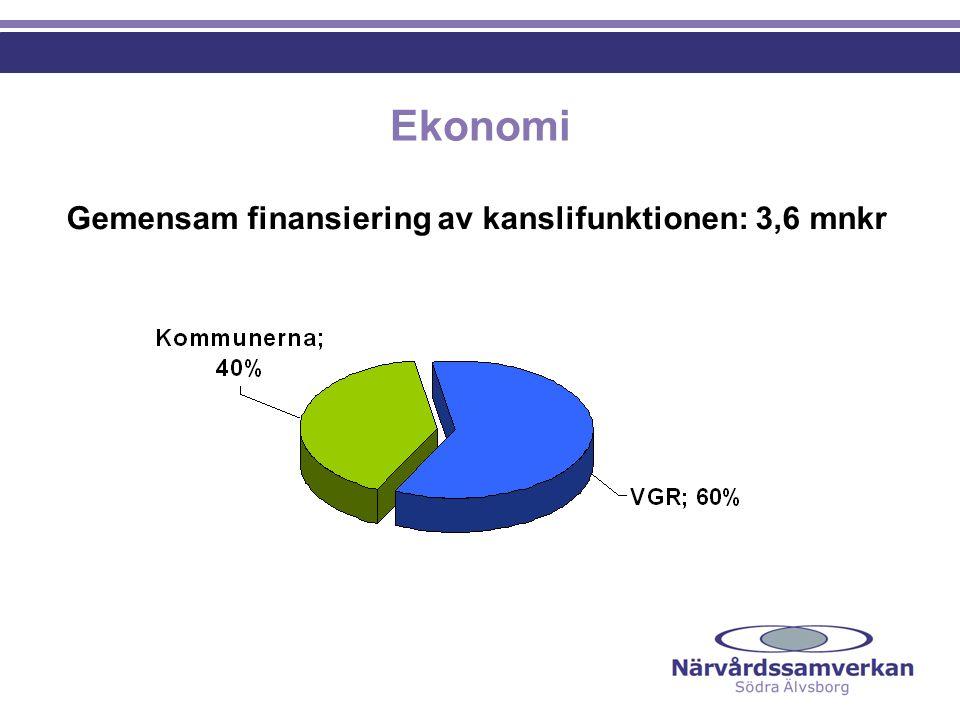 Ekonomi Gemensam finansiering av kanslifunktionen: 3,6 mnkr NGF