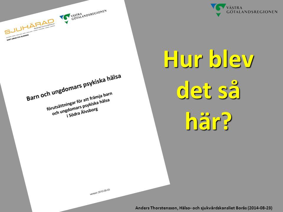Hur blev det så här Anders Thorstensson, Hälso- och sjukvårdskansliet Borås (2017-04-06)