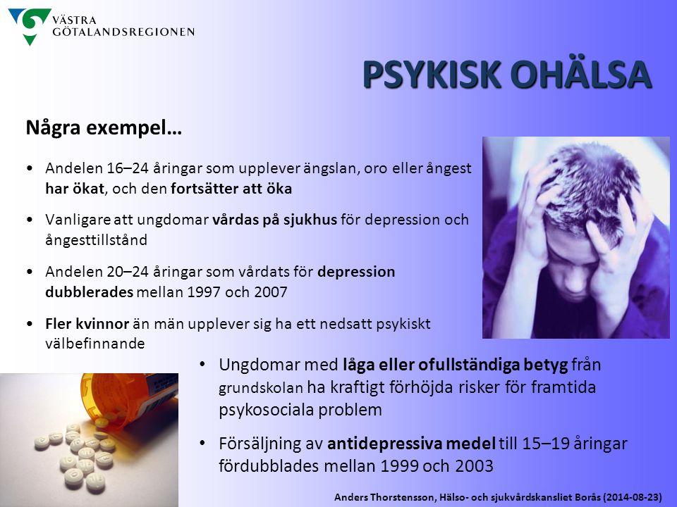 PSYKISK OHÄLSA Några exempel…