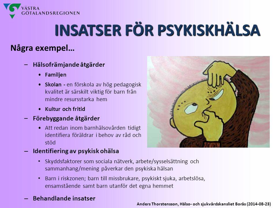 INSATSER FÖR PSYKISKHÄLSA