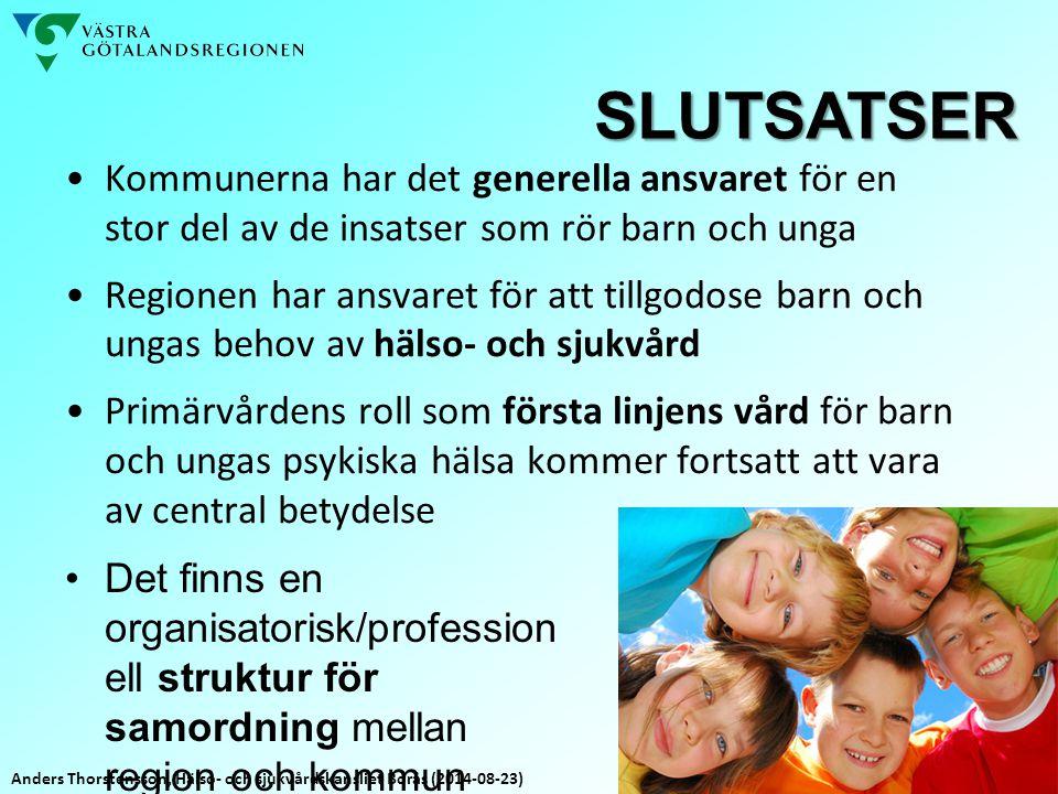 SLUTSATSER Kommunerna har det generella ansvaret för en stor del av de insatser som rör barn och unga.