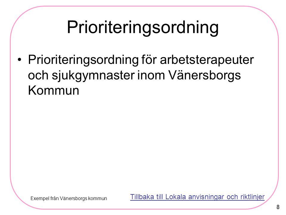 Prioriteringsordning