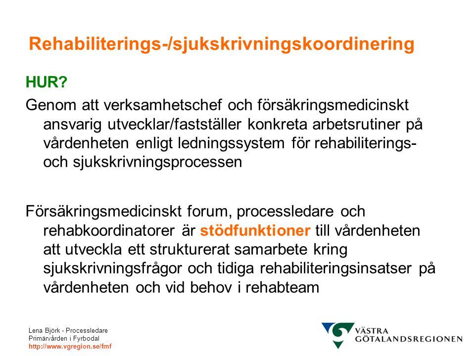 Rehabiliterings-/sjukskrivningskoordinering