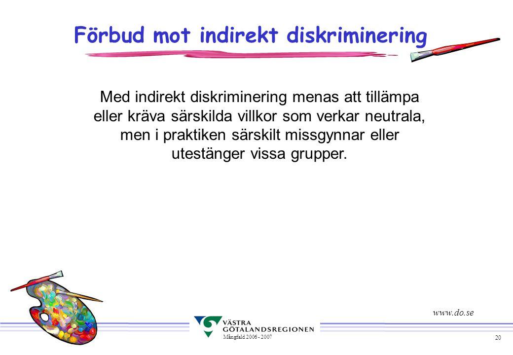 Förbud mot indirekt diskriminering