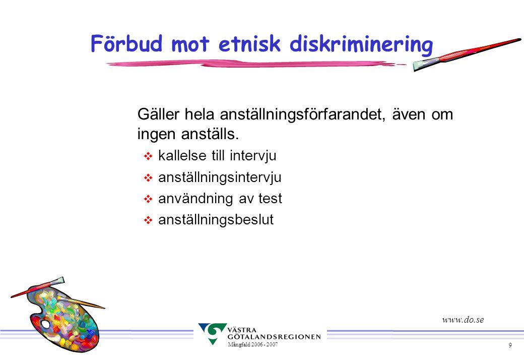 Förbud mot etnisk diskriminering