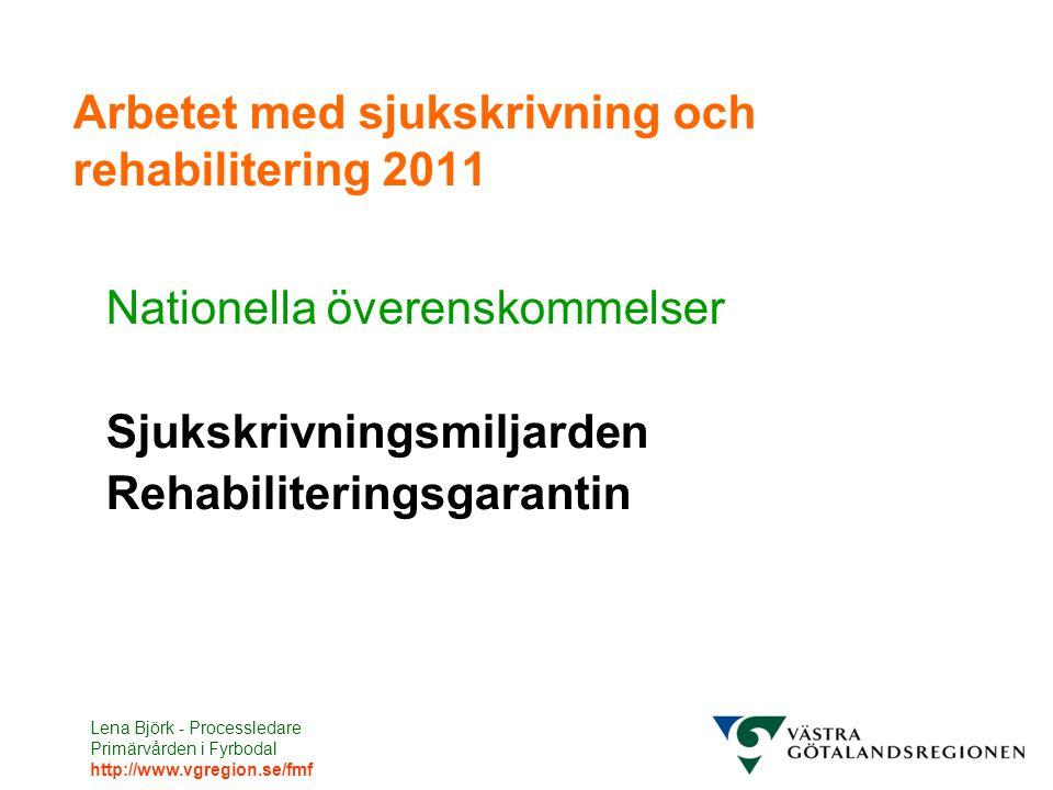 Arbetet med sjukskrivning och rehabilitering 2011