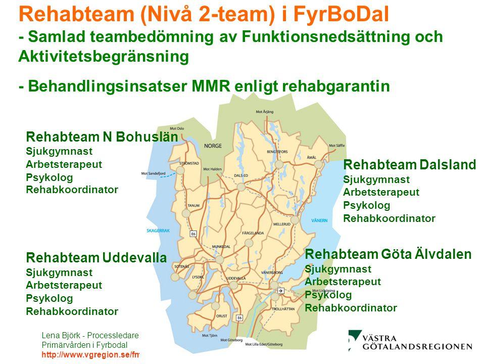Rehabteam (Nivå 2-team) i FyrBoDal - Samlad teambedömning av Funktionsnedsättning och Aktivitetsbegränsning - Behandlingsinsatser MMR enligt rehabgarantin