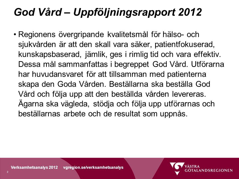 God Vård – Uppföljningsrapport 2012