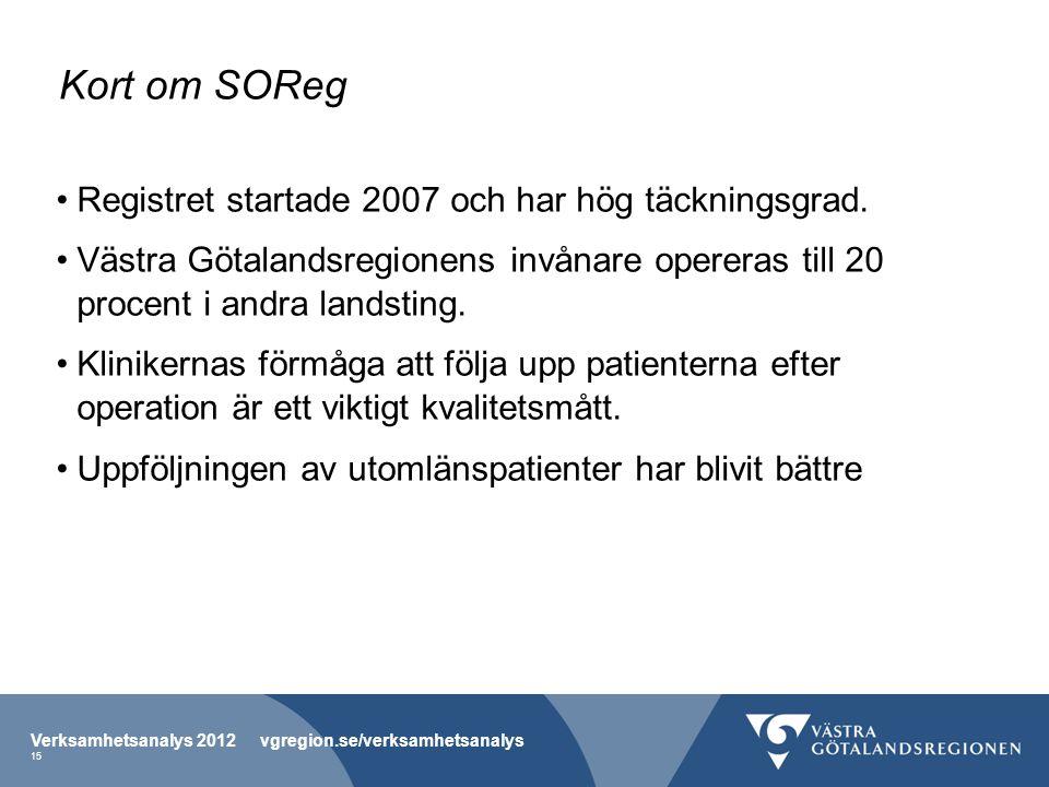 Kort om SOReg Registret startade 2007 och har hög täckningsgrad.