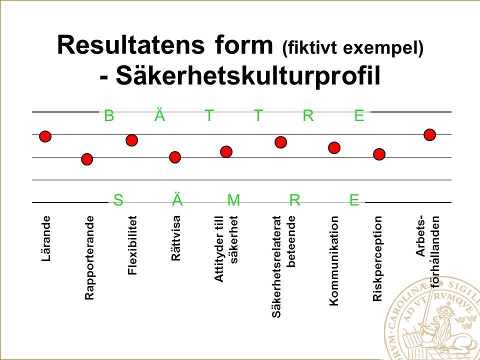 Resultatens form (fiktivt exempel)