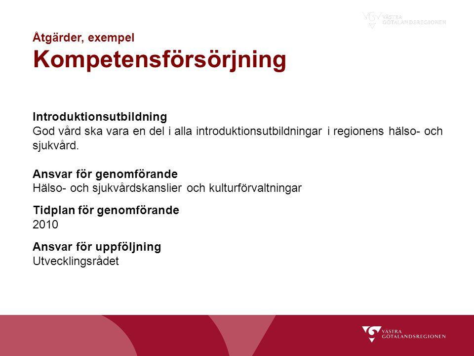 Åtgärder, exempel Kompetensförsörjning